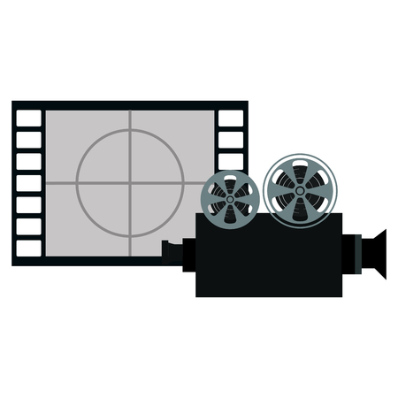 tape film with video camera vector illustration design