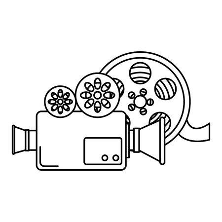 video camera with reel vector illustration design Vectores