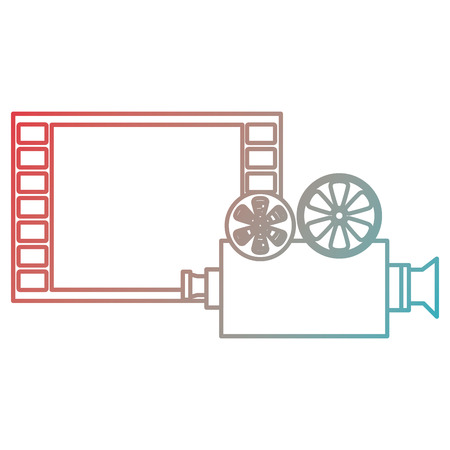 video camera with tape film vector illustration design