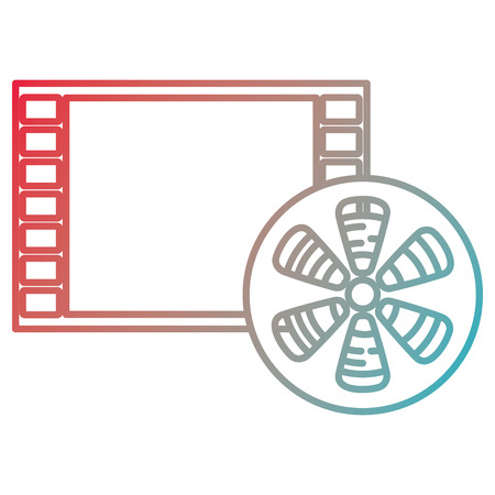 video reel with tape record vector illustration design