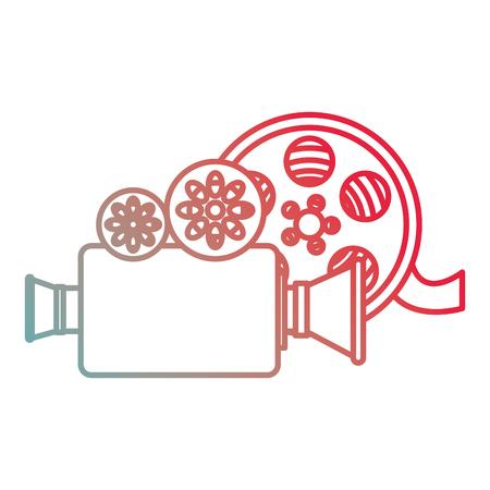 video camera with reel vector illustration design Ilustração