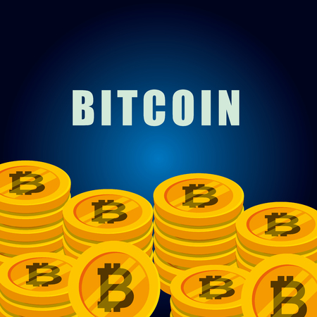 bitcoins currency digital virtual money vector illustration