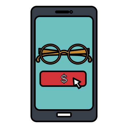 electronic commerce with smartphone vector illustration design