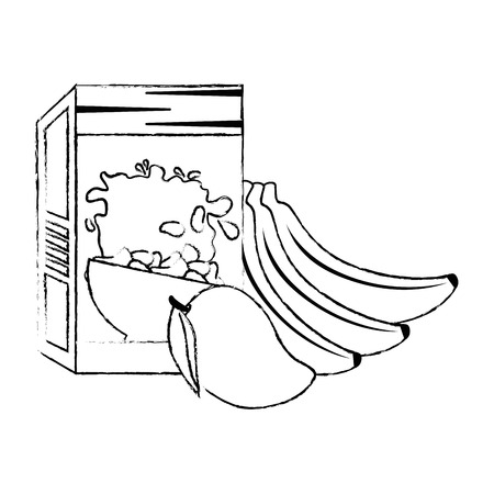 cereal box with fruits vector illustration design Foto de archivo - 103251892