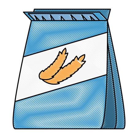 wheat bag healthy food vector illustration design