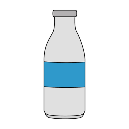 milk bottle isolated icon vector illustration design