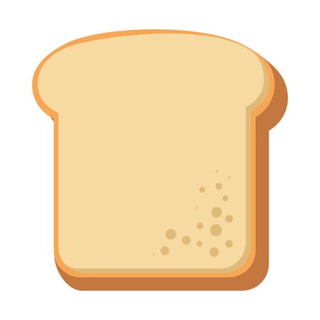 delicious bread sliced bakery vector illustration design Standard-Bild - 103255993