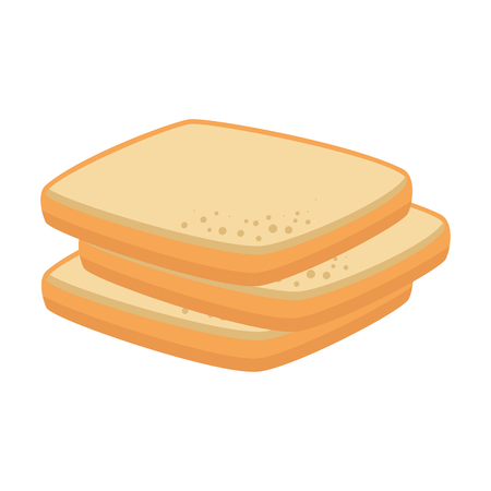 delicious breads sliced bakery icon vector illustration design Illustration
