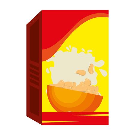 Boîte de céréales emballage icône vector illustration design