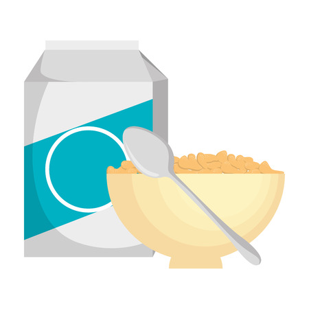 cereal with milk and dish vector illustration design Stok Fotoğraf - 103256176
