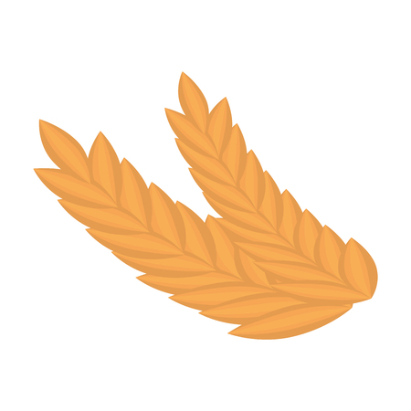 wheat leafs isolated icon vector illustration design Archivio Fotografico - 103268743