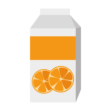 orange juice box packing vector illustration design