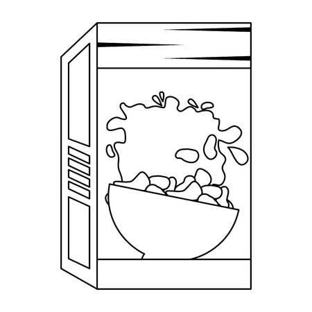 cereal box packing icon vector illustration design Illustration