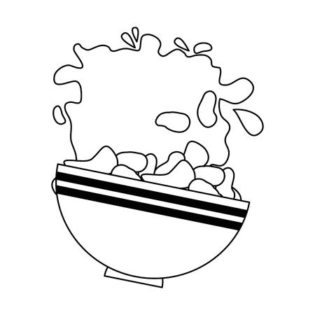 cereal dish splash healthy food vector illustration design 向量圖像