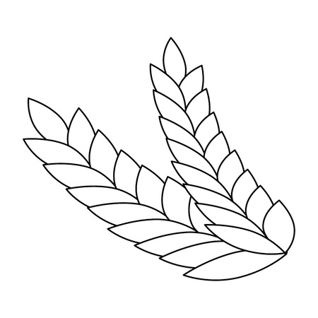 wheat leafs isolated icon vector illustration design Banque d'images - 103269004