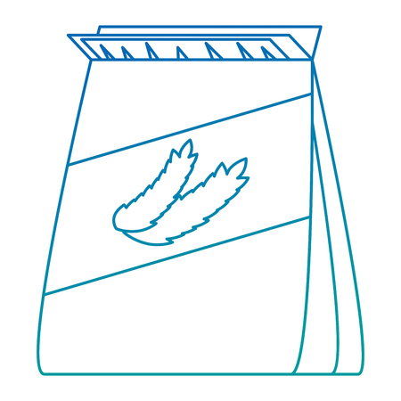wheat bag healthy food vector illustration design Stock Vector - 103269005
