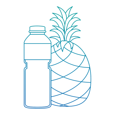juice fruit bottle with pineapple vector illustration design 版權商用圖片 - 103269028