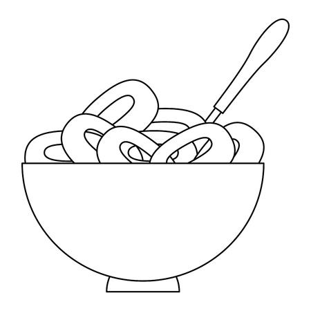 cereal dish with spoon vector illustration design Foto de archivo - 103271613