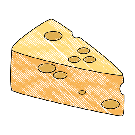 cheese piece healthy food vector illustration design Ilustrace