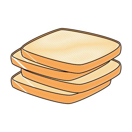 delicious breads sliced bakery icon vector illustration design Stockfoto - 103268575