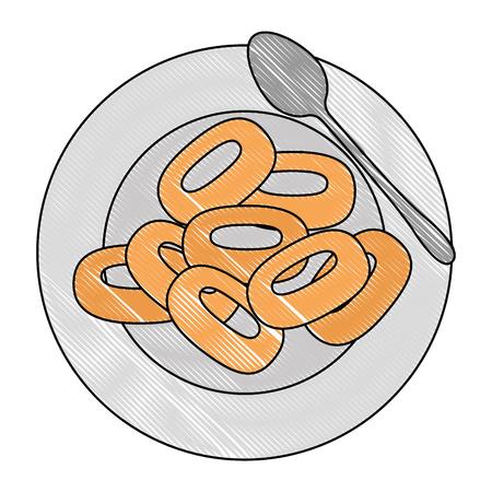 cereal dish with spoon vector illustration design Foto de archivo - 103268600