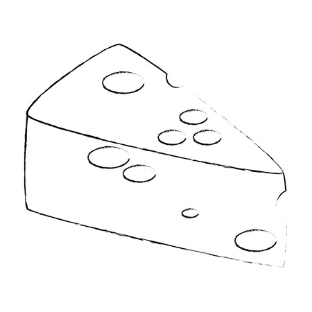 cheese piece healthy food vector illustration design Illustration