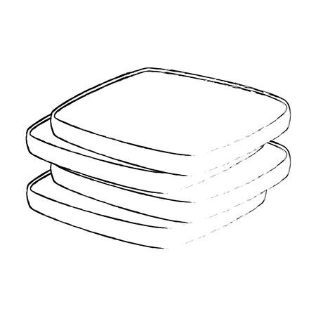 delicious breads sliced bakery icon vector illustration design Stockfoto - 103260563