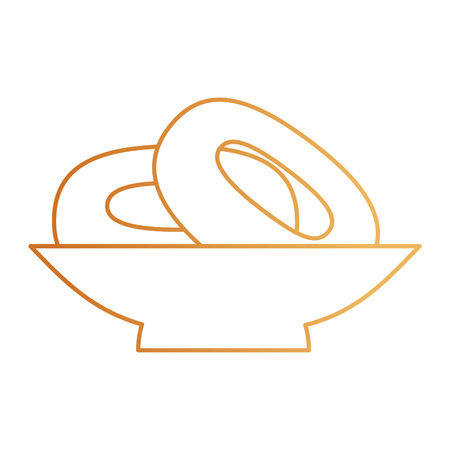 delicious bread pretzel bakery vector illustration design
