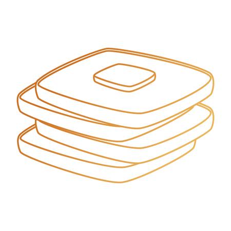delicious breads sliced bakery icon vector illustration design Stock Illustratie