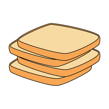 delicious breads sliced bakery icon vector illustration design Ilustração