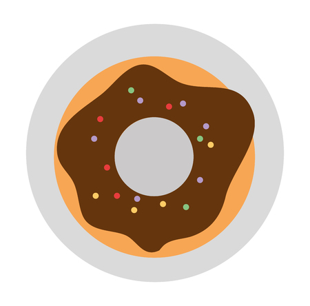 sweet donut in dish vector illustration design Illustration