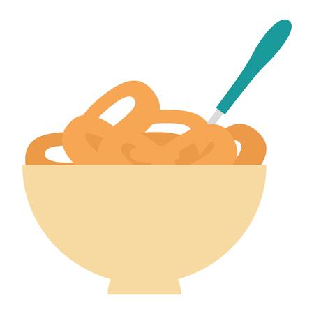 cereal dish with spoon vector illustration design Foto de archivo - 103328714