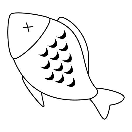delicious fish meat menu vector illustration design