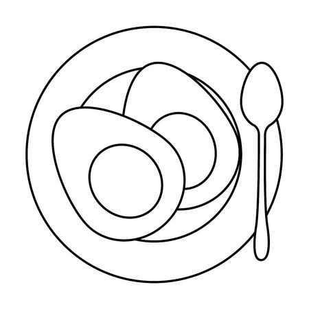delicious boiled eggs menu vector illustration design Archivio Fotografico - 103325918
