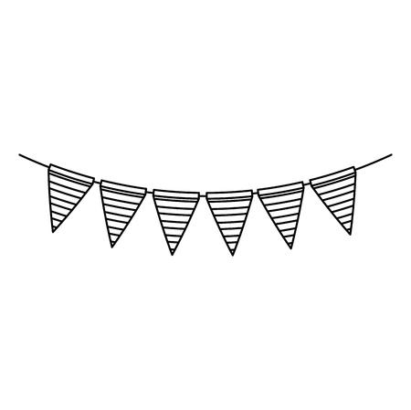 garlands hanging party decoration vector illustration design Stock fotó - 103326746