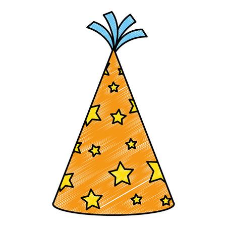 party hat celebration icon vector illustration design 矢量图像
