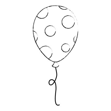 balloon helium floating icon vector illustration design