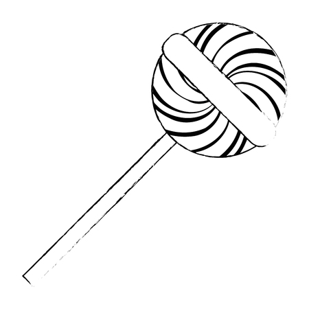 sweet lollipop isolated icon vector illustration design Illustration