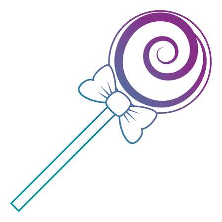 sweet lollipop isolated icon vector illustration design Çizim
