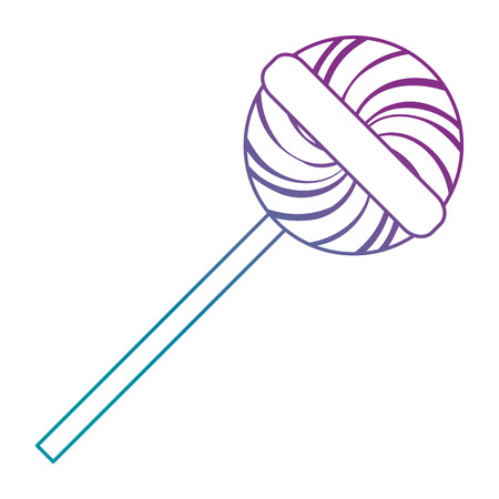 sweet lollipop isolated icon vector illustration design Illusztráció