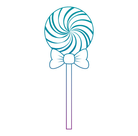 sweet lollipop isolated icon vector illustration design 向量圖像