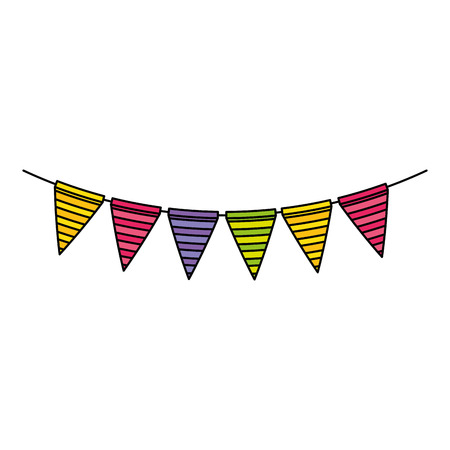 garlands hanging party decoration vector illustration design 스톡 콘텐츠 - 103373191