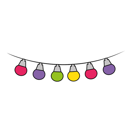 lights hanging decoration icon vector illustration design Illustration