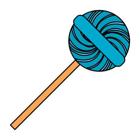 sweet lollipop isolated icon vector illustration design Illustration