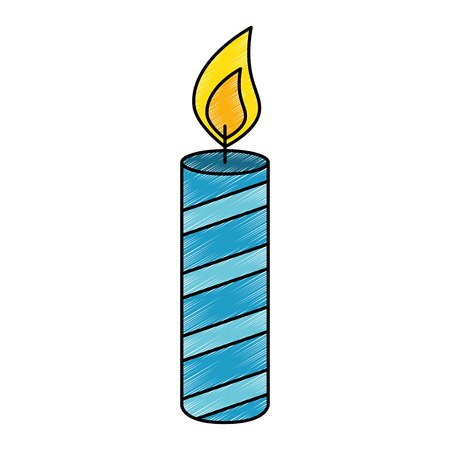 candle year isolated icon vector illustration design Zdjęcie Seryjne - 103376036