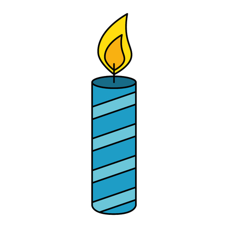 candle year isolated icon vector illustration design Illustration