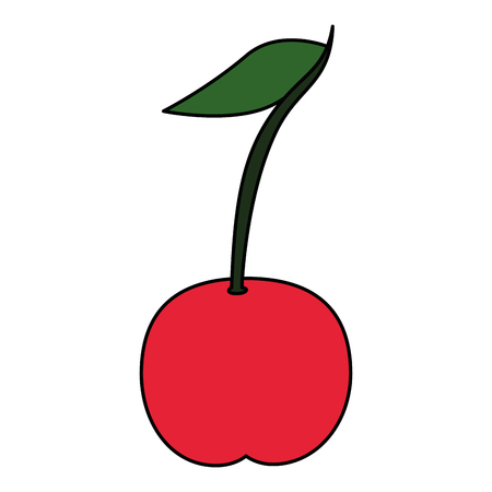 sweet cherry fruit icon vector illustration design
