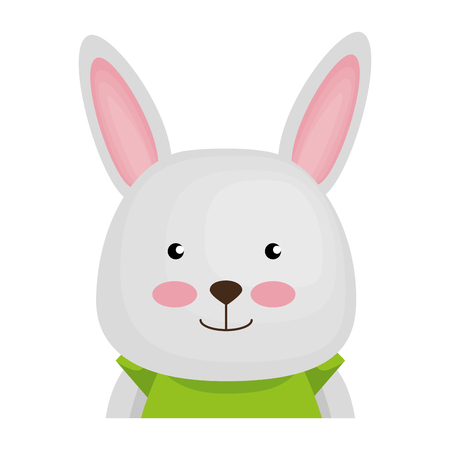 cute rabbit character icon vector illustration design Stock Illustratie
