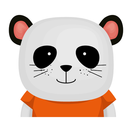 cute bear panda character vector illustration design