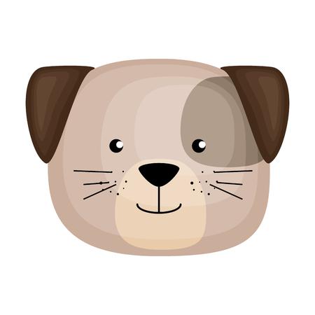 cute dog head character icon vector illustration design Foto de archivo - 103394565